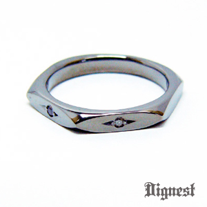 Hexagon Dia Ring Dark